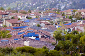 neighborhhod of solar panels