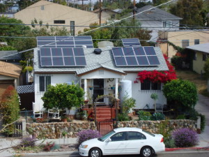 solar panels on small house